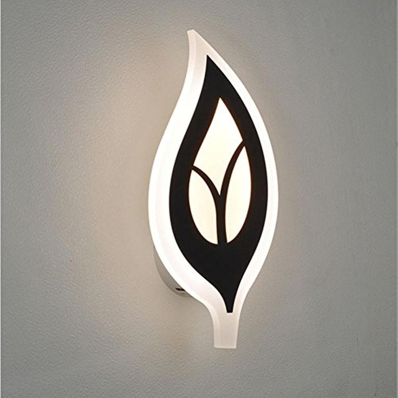 JIANREN Kreative Blatt Wand Lampe Moderne einfache Wand verziert LED Wandleuchte Wand Gang Lampe Wohnzimmer Schlafzimmer Nachttisch Licht
