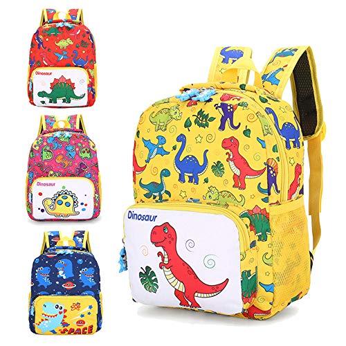 Mochila de dibujos animados dinosaurio impresión actualizada bolsas de libro - - Medium