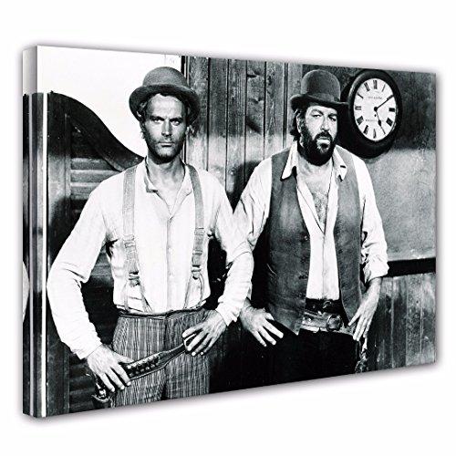 Terence Hill Bud Spencer Leinwand - Vier Fäuste für EIN Halleluja (80 x 60 cm)