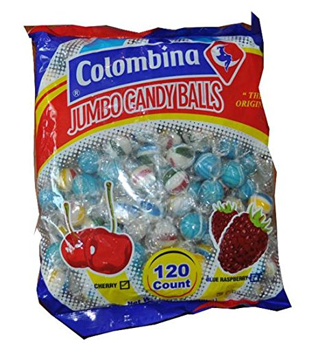 Jumbo Candy Balls Cherry and Blue Raspberry