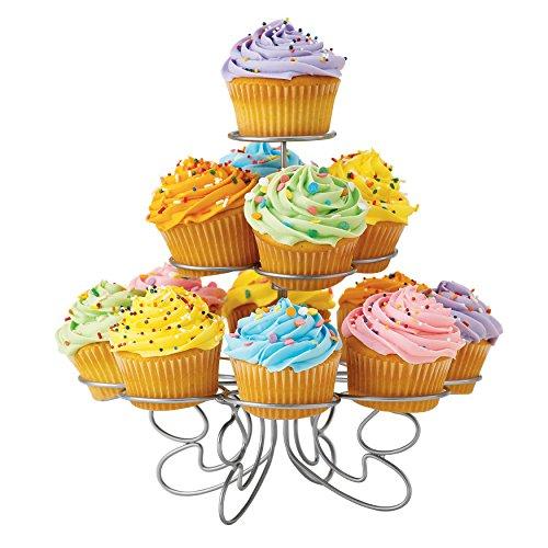 Wilton Cupcake 'n' More Ständer für 13 Cupcakes, Silber