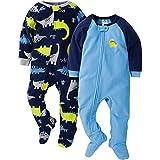 Gerber Baby Boys' 2-Pack Blanket Sleeper, Blue Dinos, 18 Months