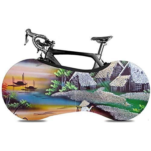 Ogden Moll Vietnam Saigon Painting Lackdekoration Tisch Radabdeckung Für Fahrradabdeckung Reise Fahrrad Staubabdeckung Radabdeckung Hält Böden Und Wände Schmutzfrei