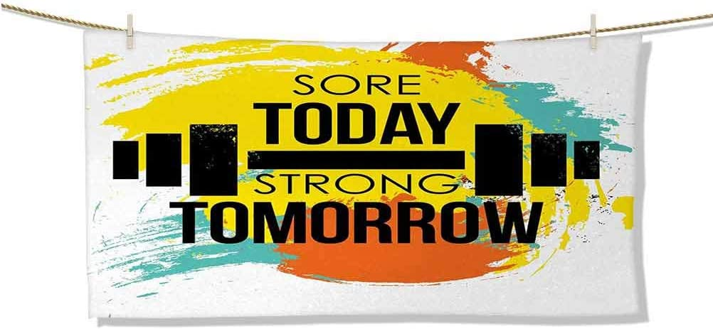 Dasnh Baby Bath Towel Sore Today Tomorrow Typog Now on sale Store Quote Gym Strong