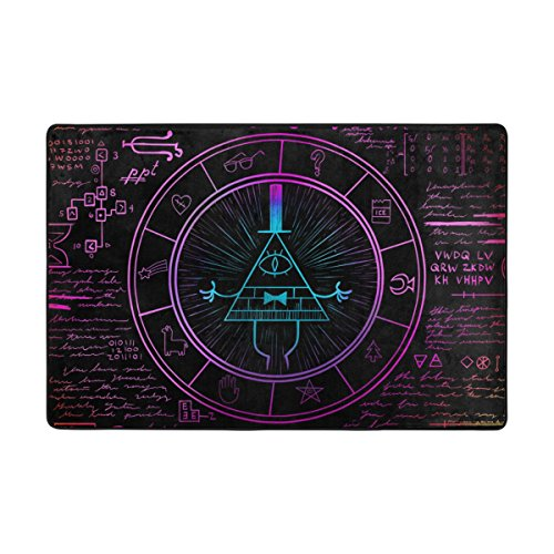 Benni giry Bill CIPHER Wheel Zodiac Domaine Super Soft Tapis Polyester Grand moderne de salle de bain antidérapant Tapis pour chambre à coucher salon hall Dîner Table Home Decor 182 x 122 cm, 72 x 48 pouces