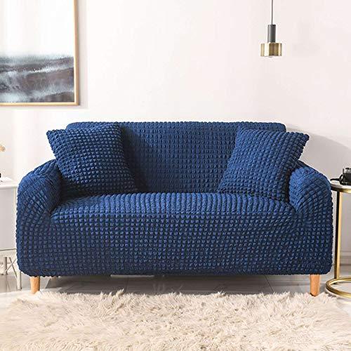 GOPG Funda elástica, suave, antideslizante, resistente al polvo, resistente al desgaste, funda protectora de muebles, para sala de estar, niño, gato, perro, E-1 asientos 90-140 cm
