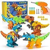 Toyze Dinosaurier Spielzeug ab 3 4 5 6 7 8 9 Jahre,Bohrmaschine Kinder Spielzeug Jungen 3-9 Jahre Dinosaurier Figuren Spiele ab 3-9 Jahren Dino Spielzeug Mädchen Geschenke 3 4 5 6 7 8 9 Jahre