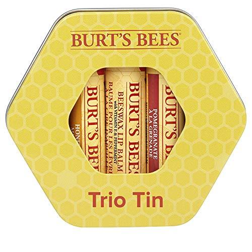 Set de regalo hidratante de tres latas Burt's Bees con 1 bálsamo labial con cera de abejas 100%...