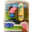 Peppa Pig Crusin George キャラクター フィギュアとスケートボードアクセサリー
