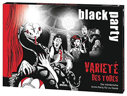 black party   Das Varieté des Todes   Die mörderische Krimi-Party für zu Hause   Das Krimi-Rätsel zur Dinner Party   Für 6-7 Spieler