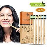 Cepillo Dientes Bambu, Paquete de 6 Cepillos de Dientes de...
