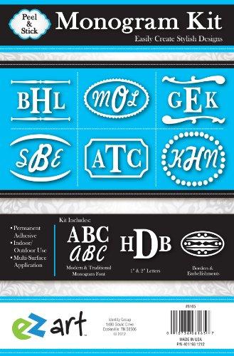 Headline Sign 6165 EZ Art Peel-and-Stick Monogram Kit with Permanent Adhesive