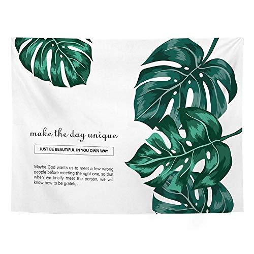 Etping Wandteppich Wall Hanging Wandtuch Tapisserie Wandbehang Grüne Blätter Tropische Pflanzen Nordische Einfachheit Weißes Hintergrundtuch Q 150 * 130cm Tapestry Für Wohnzimmer Schlafzimmer