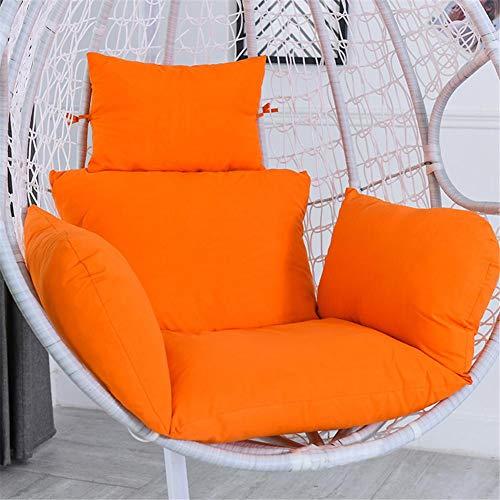 Cesta colgante cojín columpio cesta colgante asiento sofá fundas de almohada tamaño grande grueso silla colgante cojín para el hogar (no incluye sillas colgantes)