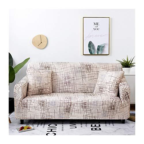 ZHAO Stretch-Plaid-Sofa-Slipcover, elastische Sofaabdeckungen für Wohnzimmer, Sofa-Stuhl Couch Cover Home Decor 1/2 / 3/4-Sitzer (Farbe : Color 19, Specification : 2 Seater 145 185cm)