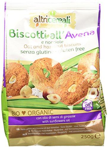 Probios Biscotti all' Avena e Nocciole - 250 gr, Senza glutine