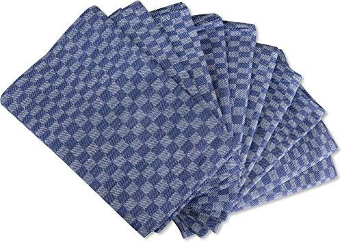 normani 10 x Geschirrhandtücher aus Baumwolle oder Halbleinen Farbe Gruben/Blau Größe 50 x 100 cm