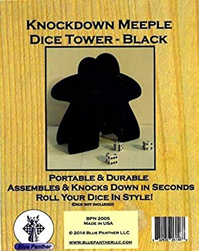 Knockdown Meeple Dice Tower schwarz by Blau Panther by Blau Panther