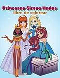 Princesas Sirena hadas libro de colorear: Colorear para niñ