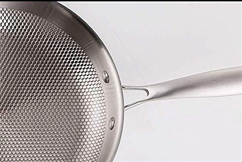 Cacerola cocina olla sopa sartén Hogar sin palo de sartén sin recubrimiento menos grasa Smoke Pan de ahorro de energía y protección de la protección del medio ambiente Adecuado para estufas de gas Gua