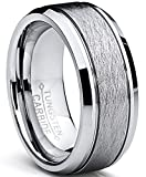 Ultimate Metals Co. Bague De Mariage en Tungstène Finition Mat Satinée Brossé Pour...