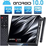 Android TV Box 10.0,4GB RAM 64GB ROM, Pendoo X11 PRO Android Box 10.0