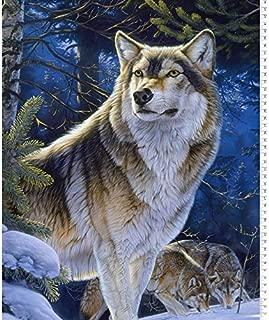 Best wolf quilt panels Reviews