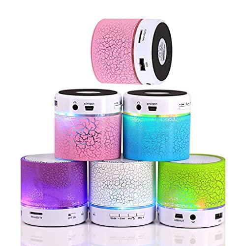 Mini Altavoz Bluetooth con Luz Led y USB en Cajita de regalo - Detalles y Regalos Invitados Bodas, Comuniones Adultos Niños
