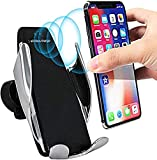 eller santé ® Wireless 10W Car Charger Automatic Clamping Fast Charging Phone Holder Mount in Car for iPhone 12/12Pro/11/11ProMax/XS/XR Galaxy S20/S20 Ultra/S10/S10 Plus/S9/Note10/Note10Plus