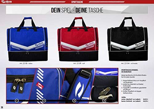 Alpas Sporttasche mit Bodenfach / 3 Farben & 2 Größen *NEU* Tasche, Farbe: Schwarz, Größe: Senior 51x31x42 cm (LxBxH)