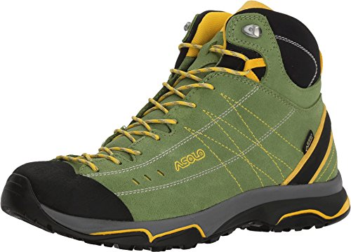 Asolo Women's Nucleon Mid GV Hiking Boot English Ivy/Yellow 10.5