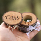 Mr and Mrs Ring Boxes Laser Engraved Wood Ring Box Wedding