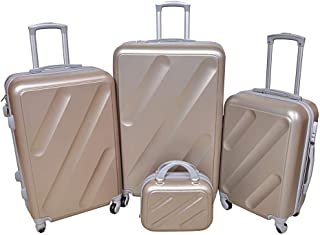 New Travel Luggage Trolley Bags for Unisex, 813-4P Gold