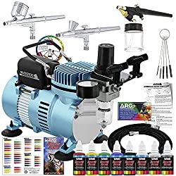 Premium Pick for Best Airbrush Kit: Master Airbrush Air Compressor Professional Airbrushing System Kit