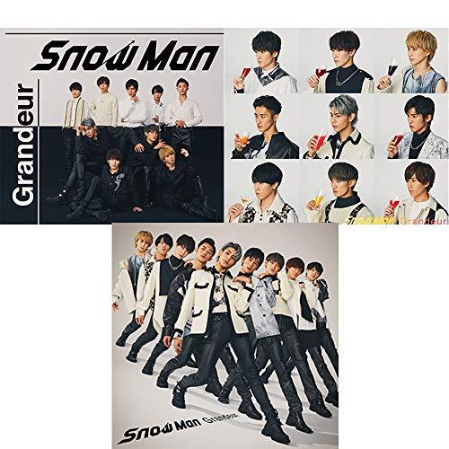 【購入者特典3種付】 Snow Man 3rdシングル Grandeur 【 初回盤A+B+初回仕様通常盤 】