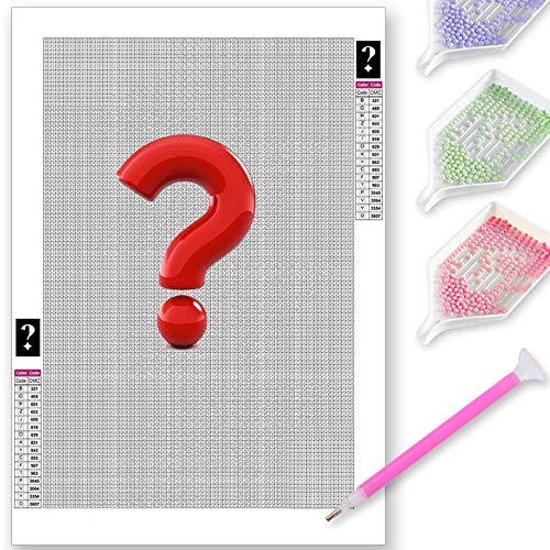 GIEAAO 5D Mystery Mistero Diamond Painting Kit Completo, Sorpresa Pittura Diamante 5D Fai Da Te, Ricamo con Strass Punto Croce Arte e Artigianato Decorazione per Casa e Pareti 30x40/35x35 cm