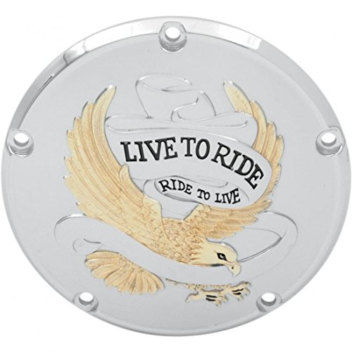 Live to Ride Derby Cover Gold 5-Hole – 33 – 0065 ga – Drag Specialties 11070158
