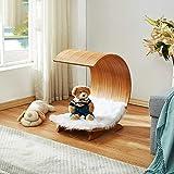 XiXi Ramu Kleine Hunde Kleine Wohnung Möbelhaus Holz Bett Holz Katzentoilette C-förmige Waterloo Haustier 45X39X39cm.