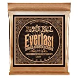 Ernie Ball Everlast Coated Phosphor Bronze Light Acoustic Guitar Strings - 11-52 Gauge (P02548)