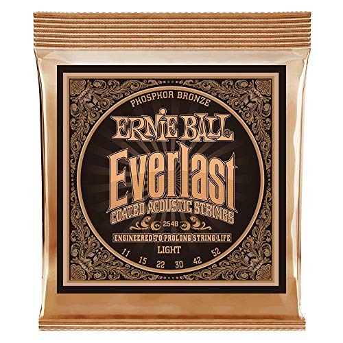 Ernie Ball Coated Phosphor Bronze Acoustic Guitar Strings 11-52 (P02548)