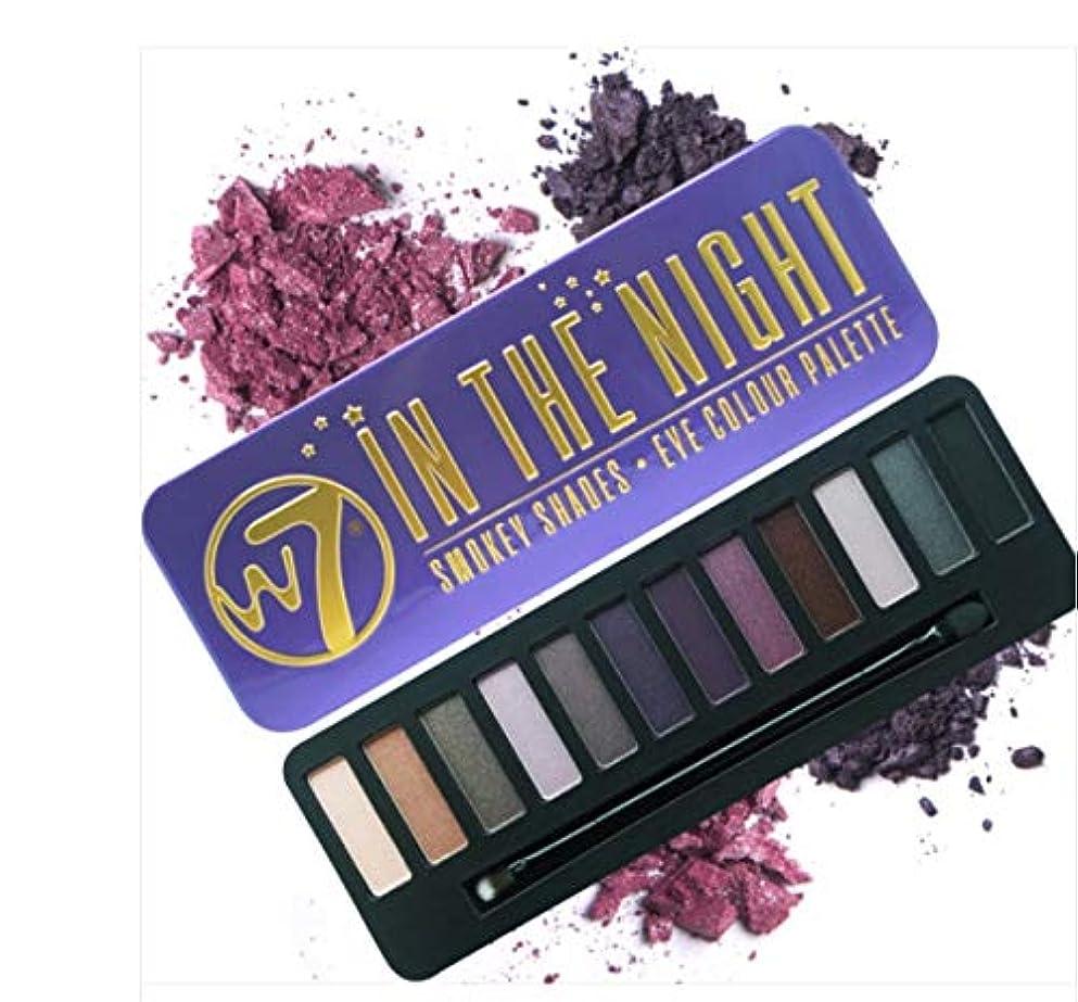 名前で影のある類推W7 IN THE NIGHT Eye Colour Palette英国感性ビューティーブランド実用的なスモーキーメーキャップが可能アイシャドウ内蔵ブラシ付き(海外直送)