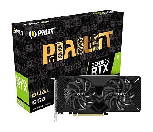 Palit NE62060018J9-1160A Grafikkarte GeForce RTX 2060 6 GB GDDR6 - Grafikkarten (GeForce RTX 2060, 6 GB, GDDR6, 192 Bit, 7680 x 4320 Pixel, PCI Express x16 3.0)