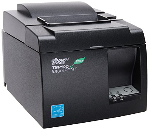 Star MicronicsTSP143IIU GRY US ECO - Thermal Receipt Printer - Cutter - USB - Gray - Internal Power Supply and Cable Included