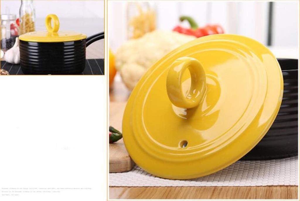 QXX Pot à Lait en céramique Bébé Complément Alimentaire pour bébé Pot à la Maison Multi-Fonction Pot à Soupe Simple poignée (Couleur : Le Jaune) Le Jaune