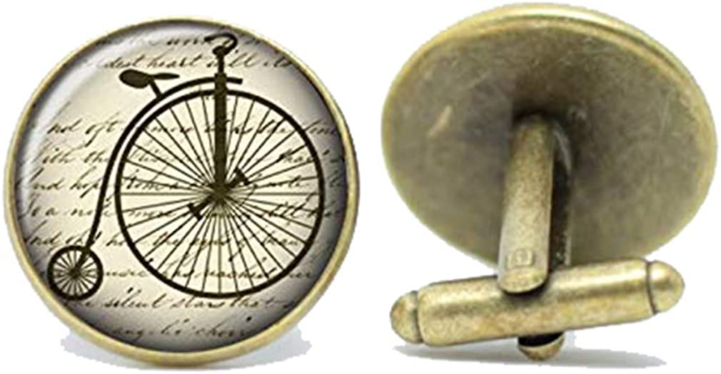 Death Devil Vintage Inspired Cufflinks with Victorian Unicycle Handmade Design,Gift of Love