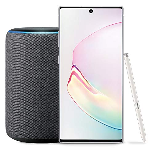 Samsung Galaxy Note 10 Factory Unlocked Phone with 256GB (U.S. Warranty), Aura White with Echo Plus (2nd Gen) - Premium Sound with Built-in Smart Home hub - Charcoal