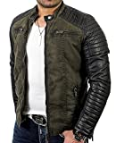 Red Bridge Hommes Veste Similicuir Biker Occasionnels Nervuré Mode Coton...