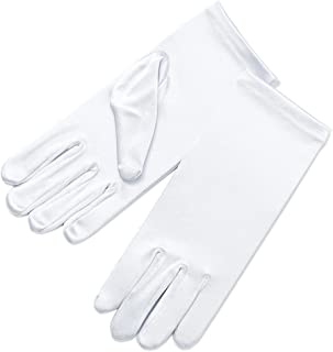 Girl's Fancy Stretch Satin Dress Gloves Wrist Length 2BL