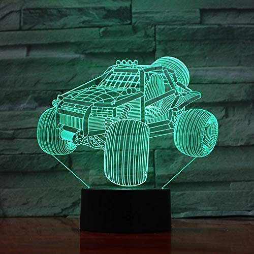 LED Dune buggy Beach Gradient 3D LED Night Light USB Table Lamp Kids birthday Gift Bedside home decoration
