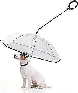 Enjoying Pet Umbrella Dog Umbrella with Leash Snow-Proof Rain Proof Umbrella for Small Dogs